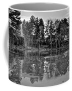 Icy Pond Reflects Coffee Mug by Frozen in Time Fine Art Photography