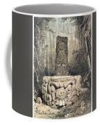 Idol And Altar At Copan Coffee Mug