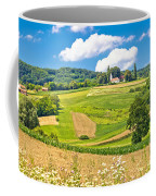 Idyllic Agricultural Landscape Panoramic View Coffee Mug