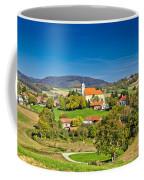 Idyllic Green Nature Of Croatian Village Of Glogovnica Coffee Mug