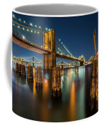 Illuminated Brooklyn Bridge By Night Coffee Mug