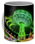 Illuminated Fair Ride With Blurred Neon Coffee Mug