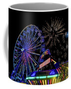 Illuminated Ferris Wheel With Neon Coffee Mug