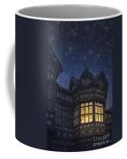 Illuminated Windows Of A Turret In A Timber Framed Tudor House Coffee Mug