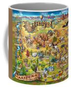 Illustrated Map Of Arizona Coffee Mug