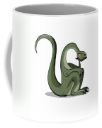 Illustration Of A Brontosaurus Thinking Coffee Mug by Stocktrek Images