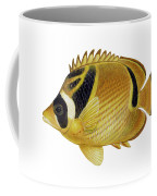Illustration Of A Raccoon Butterflyfish Coffee Mug by Carlyn Iverson
