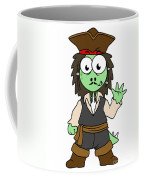 Illustration Of A Stegosaurus Pirate Coffee Mug