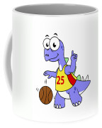 Illustration Of A Stegosaurus Playing Coffee Mug by Stocktrek Images