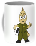Illustration Of An Allosaurus Jet Pilot Coffee Mug