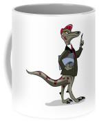 Illustration Of An Iguanodon Clerk Coffee Mug