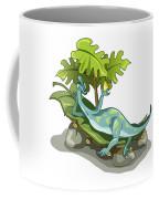 Illustration Of An Iguanodon Sunbathing Coffee Mug