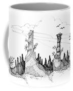Imagination 1993 - Eagles Over Desert Rocks Coffee Mug