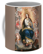 Immaculate Virgin Victorious Over The Serpent Of Heresy Coffee Mug