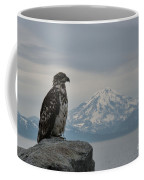 Immature Eagle And Alaskan Mountain Coffee Mug