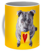 Imploring Staffie With A Sticky Note On His Mouth Coffee Mug