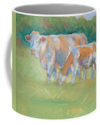 Impressionist Cow Calf Painting Coffee Mug