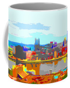 Impressionist Pittsburgh Across The River 2 Coffee Mug