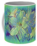 Impressionistic Blue Blossoms Coffee Mug