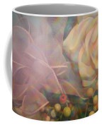 Impressionistic Pink Rose With Ribbon Coffee Mug