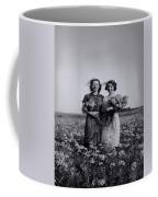 In A Field Of Flowers Vintage Photo Coffee Mug