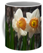 In Conversation - A Couple Of Daffodils Huddled Together Coffee Mug
