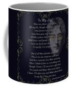 In My Life Golden Scroll Coffee Mug