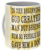 In The Beginning... Coffee Mug by Debbie DeWitt