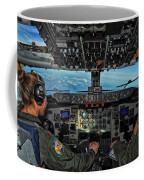 In The Cockpit Of A Kc-135 Stratotanker  Coffee Mug
