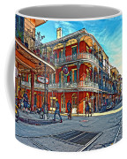 In The French Quarter Painted Coffee Mug