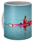 In The Pink Kayaker Coffee Mug