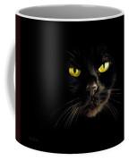 In The Shadows One Black Cat Coffee Mug