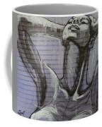 In The Shower - Portrait Of A Woman Coffee Mug