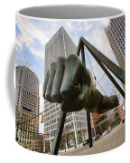In Your Face -  Joe Louis Fist Statue - Detroit Michigan Coffee Mug