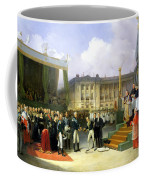Inauguration Of A Monument In Memory Of Louis Xvi 1754-93 By Charles X 1757-1836 At The Place De La Coffee Mug