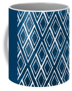 Indgo And White Diamonds Large Coffee Mug