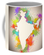 India Watercolor Map Painting Coffee Mug
