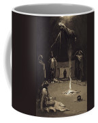 Indian Fire God. The Going Of The Medicine-horse Coffee Mug