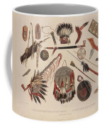 Indian Implements And Arms Coffee Mug