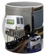 Indian Man Enjoying In A Bumper Cars Ride In An Entertainment Park Coffee Mug