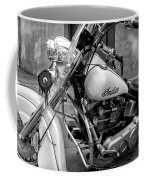Indian Motorcycle In French Quarter-bw Coffee Mug