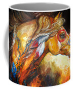 Indian War Horse Golden Sun Coffee Mug