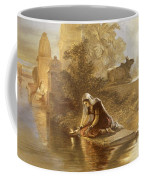 Indian Woman Floating Lamps Coffee Mug