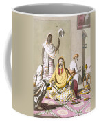 Indian Woman In Her Finery, With Guests Coffee Mug