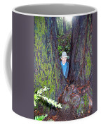 Indiana Jones In Armstrong Redwoods State Preserve Near Guerneville-ca Coffee Mug