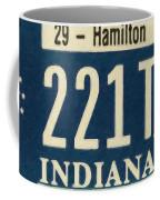 Indiana License Plate Coffee Mug