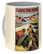 Indianapolis Motor Speedway - Vintage Lithograph Coffee Mug