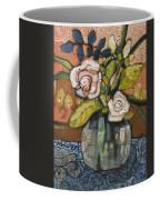 Indigo And Orange Floral Coffee Mug