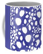 Indigo Bubbles- Contemporary Absrtract Watercolor Coffee Mug