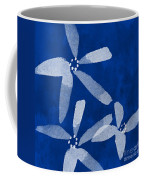 Indigo Flowers Coffee Mug by Linda Woods